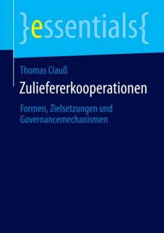 Zuliefererkooperationen - Thomas Clauß