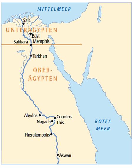 Karte ägypten Nil.Die ägyptische Hochkultur Geschichte Der Naturwissenschaften